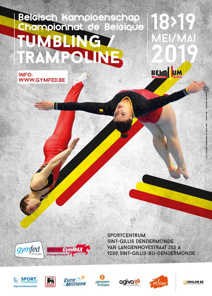 TU TRA - Belgisch Kampioenschap Trampoline A- en B-niveau + Tumbling A- en B-niveau