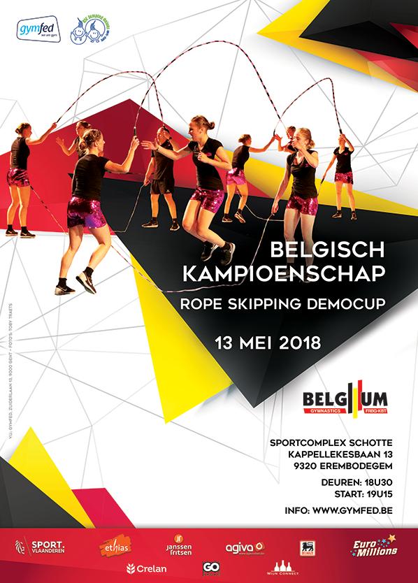 Rope skipping - PK Teams I-niveau DD en Demo OWVL en Belgisch Kamp Democup